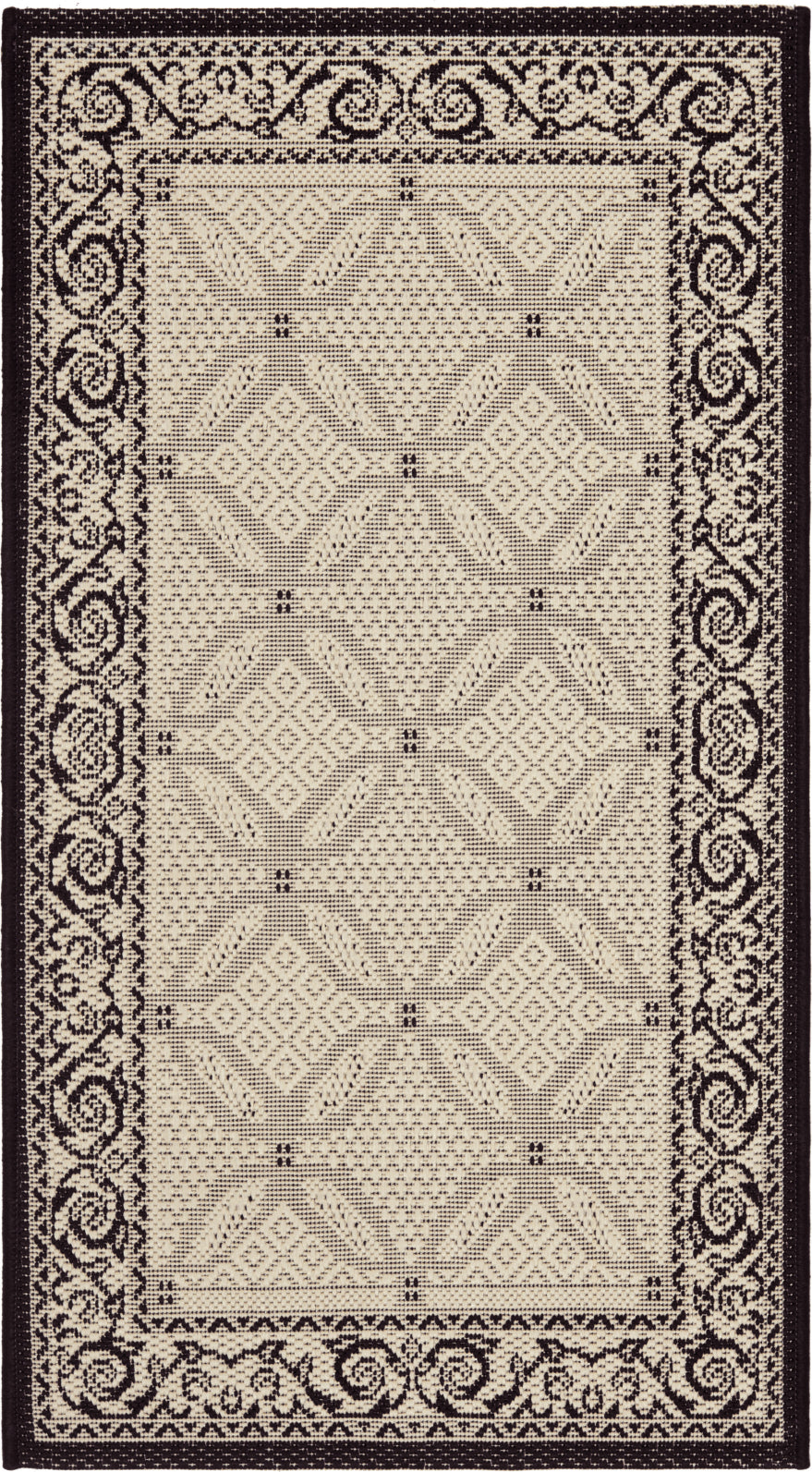 Safavieh Courtyard CY1502 Sand/Black Area Rug main image
