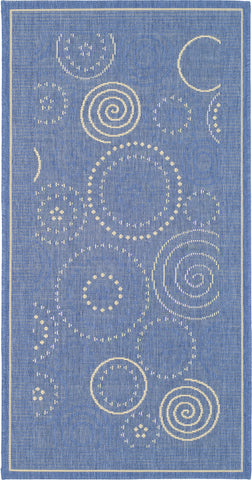 Safavieh Courtyard CY1906 Blue/Natural Area Rug main image