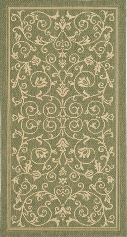 Safavieh Courtyard CY2098 Olive/Natural Area Rug main image