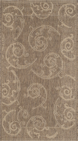 Safavieh Courtyard CY2665 Brown/Natural Area Rug main image