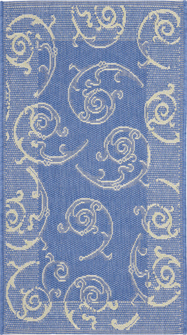 Safavieh Courtyard CY2665 Blue/Natural Area Rug main image