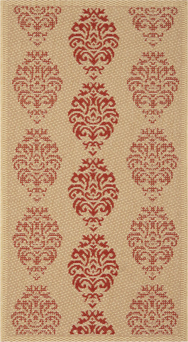 Safavieh Courtyard CY2720 Natural/Red Area Rug main image