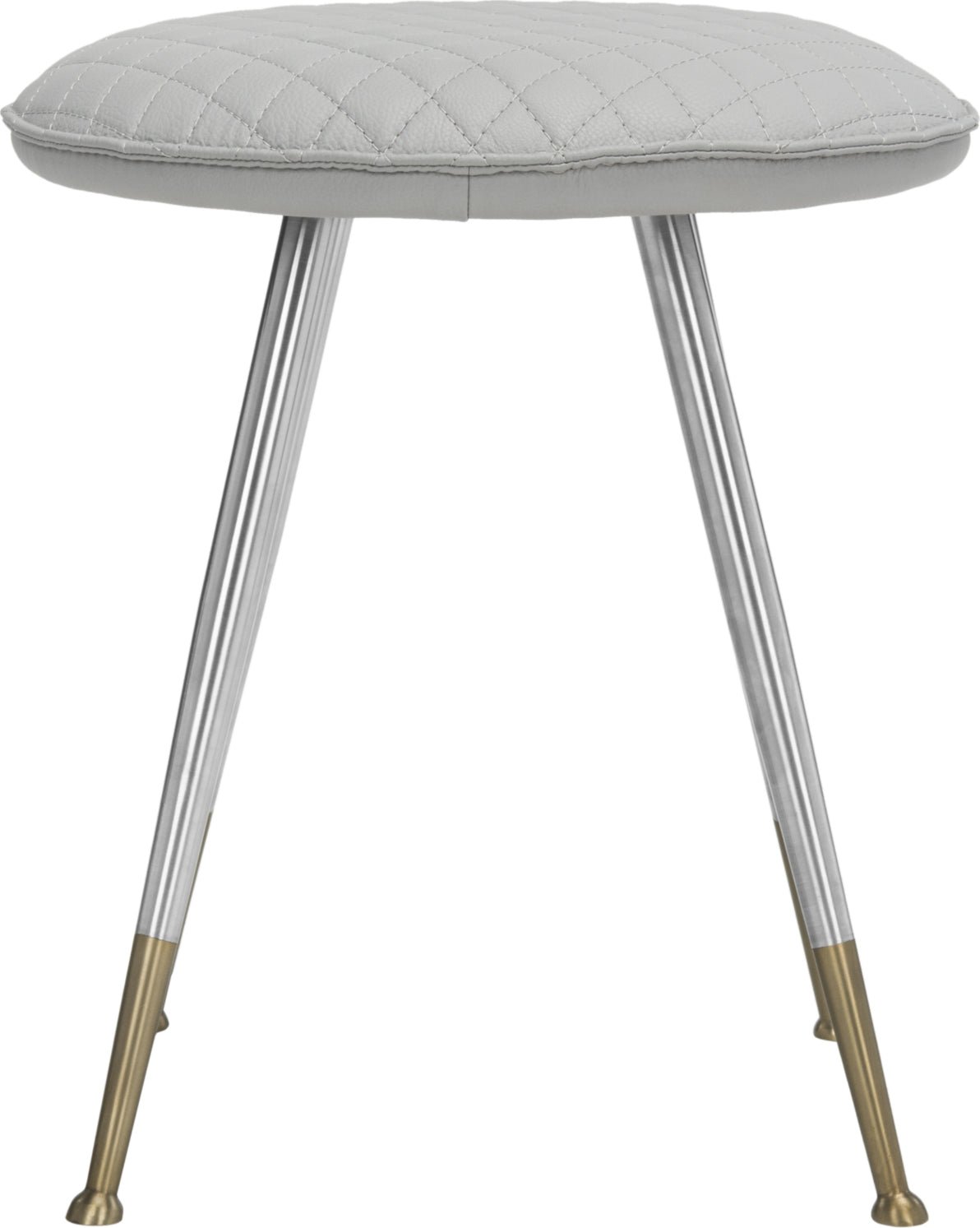 Safavieh Brinley 30''H Mid Century Modern Stool Light Grey and Silver Furniture main image