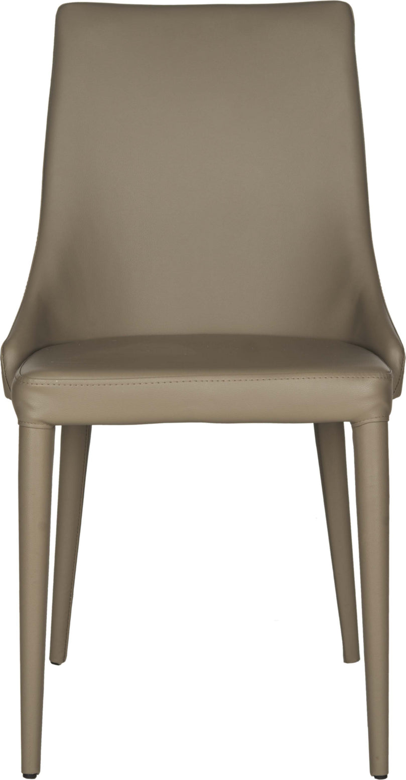 Safavieh Summerset 19''H Leather Side Chair Taupe Furniture main image