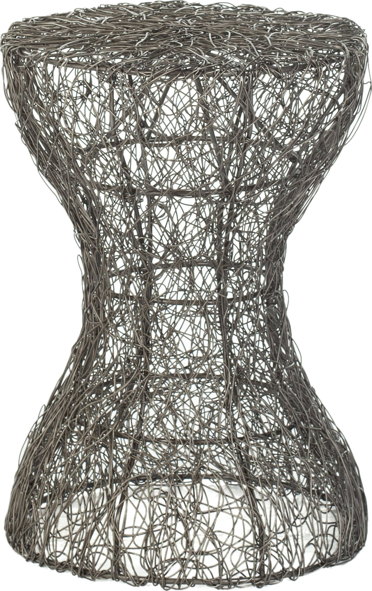 Safavieh Zig Zag Woven Wire Stool Antique Zinc Furniture main image