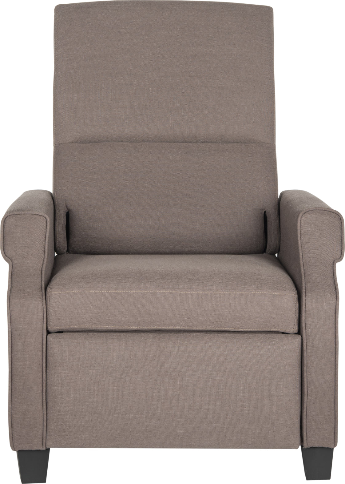 Safavieh Hamilton Recliner Chair Dark Taupe and Black Furniture main image