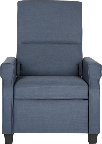 Safavieh Hamilton Recliner Chair Navy and Black Furniture main image