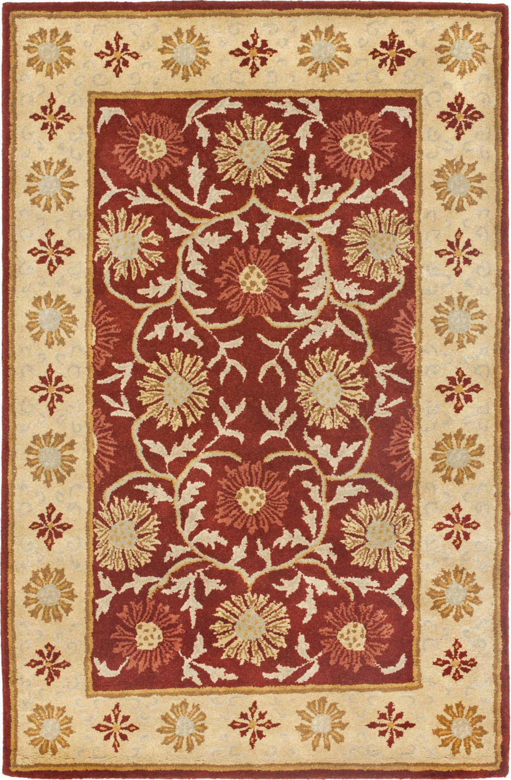Safavieh Heritage 970 Red/Beige Area Rug main image