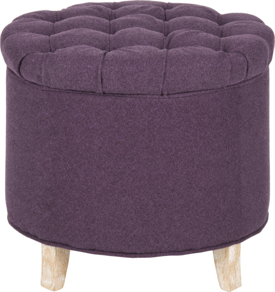 Excellent Safavieh Amelia Tufted Storage Ottoman Plum And Pickled Oak Furniture Clearance Ncnpc Chair Design For Home Ncnpcorg