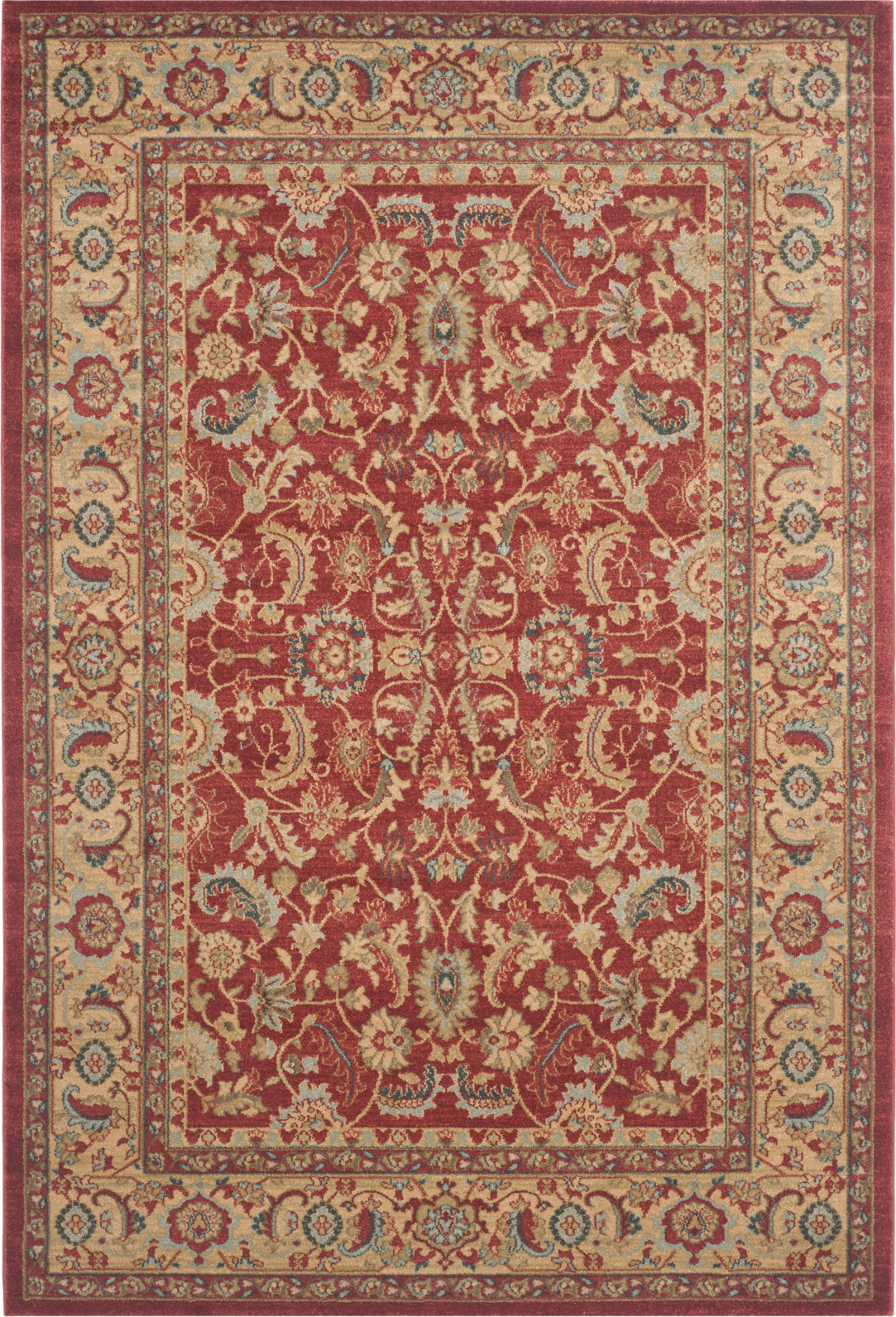 Safavieh Mahal MAH699A Red/Natural Area Rug main image
