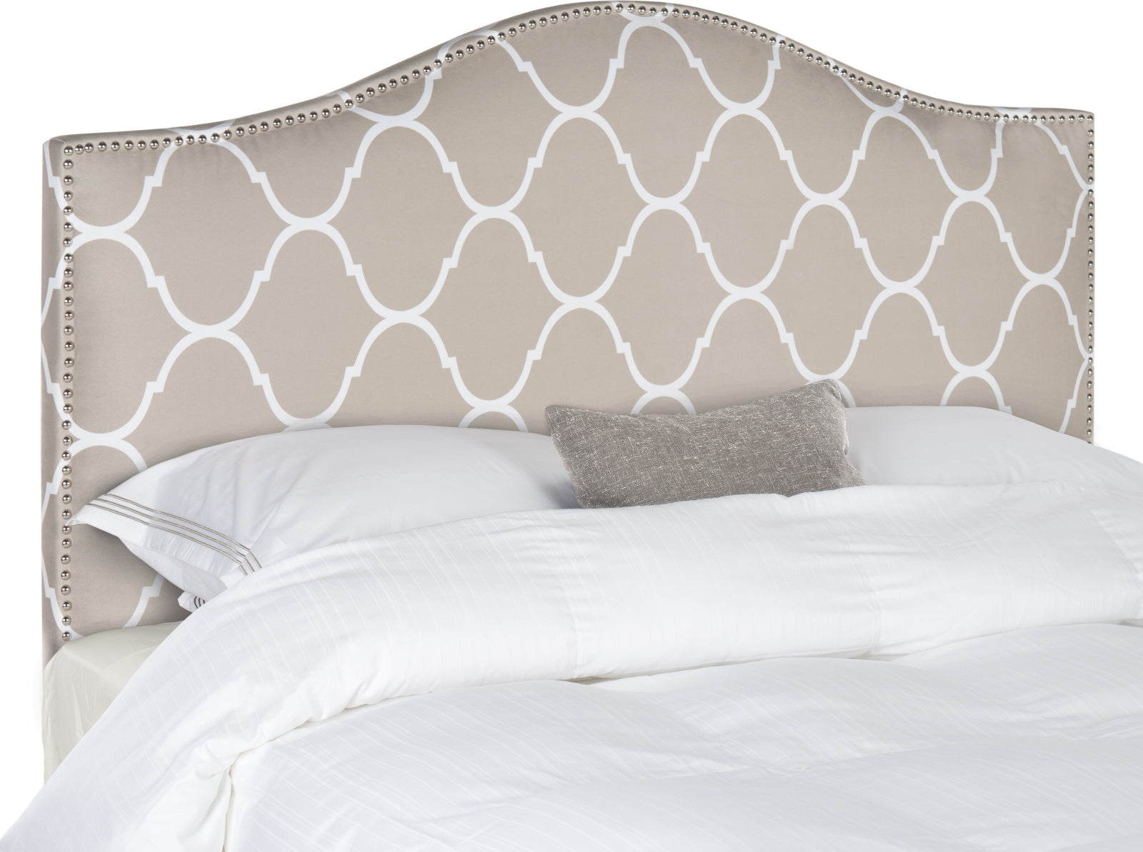 Safavieh Connie Pearl Lattice Grey Headboard Bedding main image