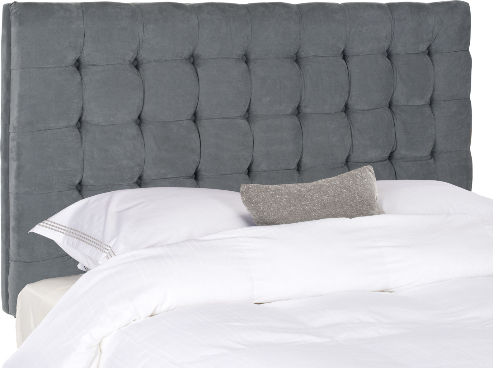 Safavieh Lamar Grey Tufted Headboard Bedding main image
