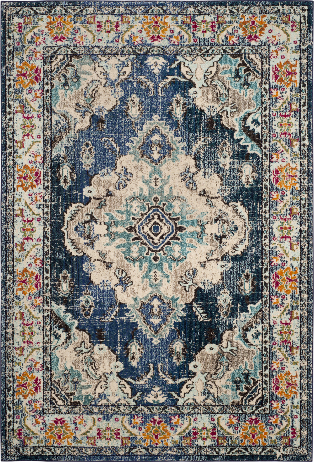 Safavieh Monaco MNC243N Navy/Light Blue Area Rug main image