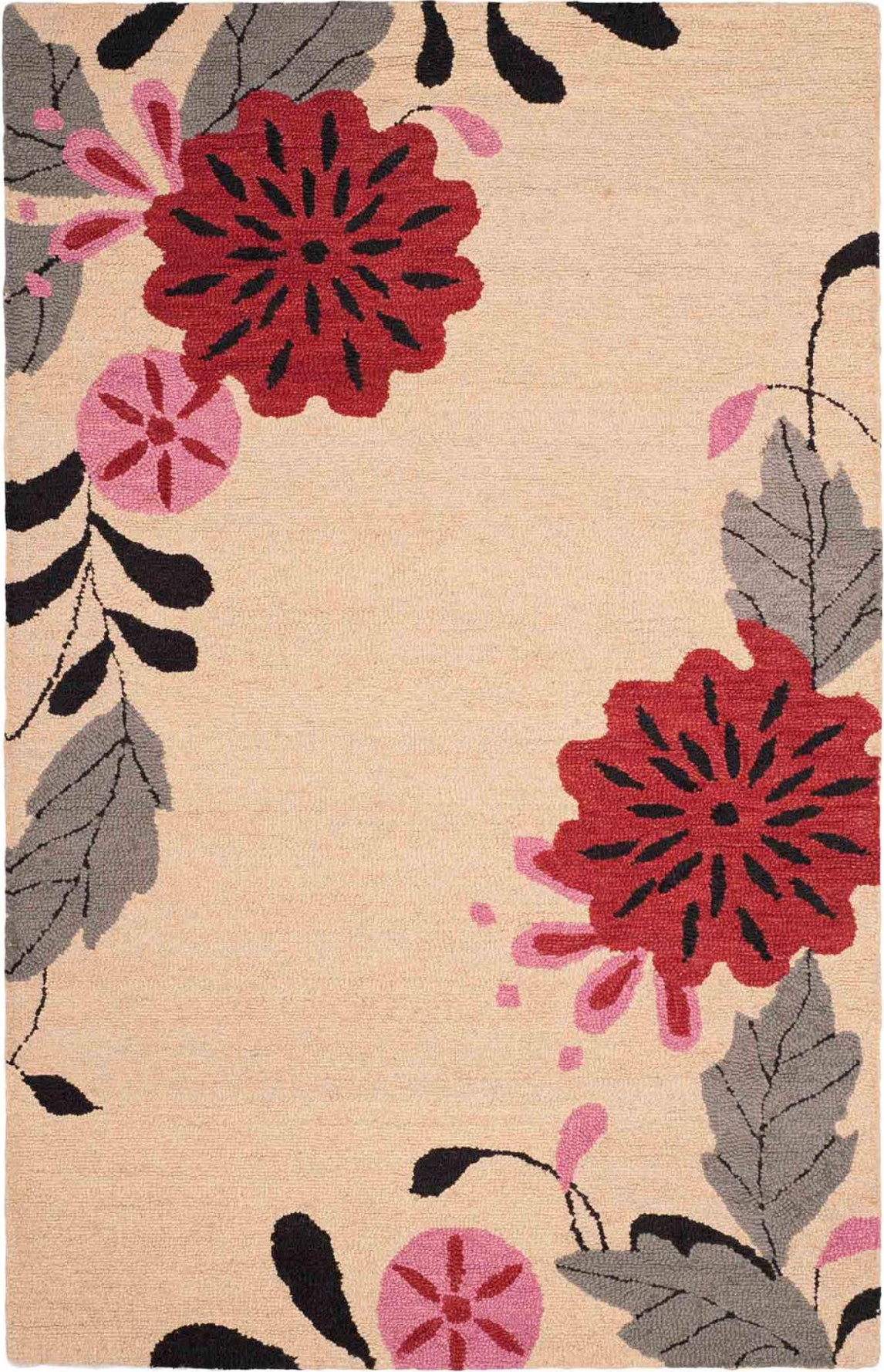 Safavieh Martha Stewart Picture Block Floral Ivory Area Rug main image