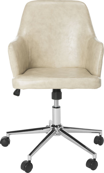 Surprising Safavieh Cadence Swivel Office Chair Beige And Chrome Furniture Clearance Caraccident5 Cool Chair Designs And Ideas Caraccident5Info