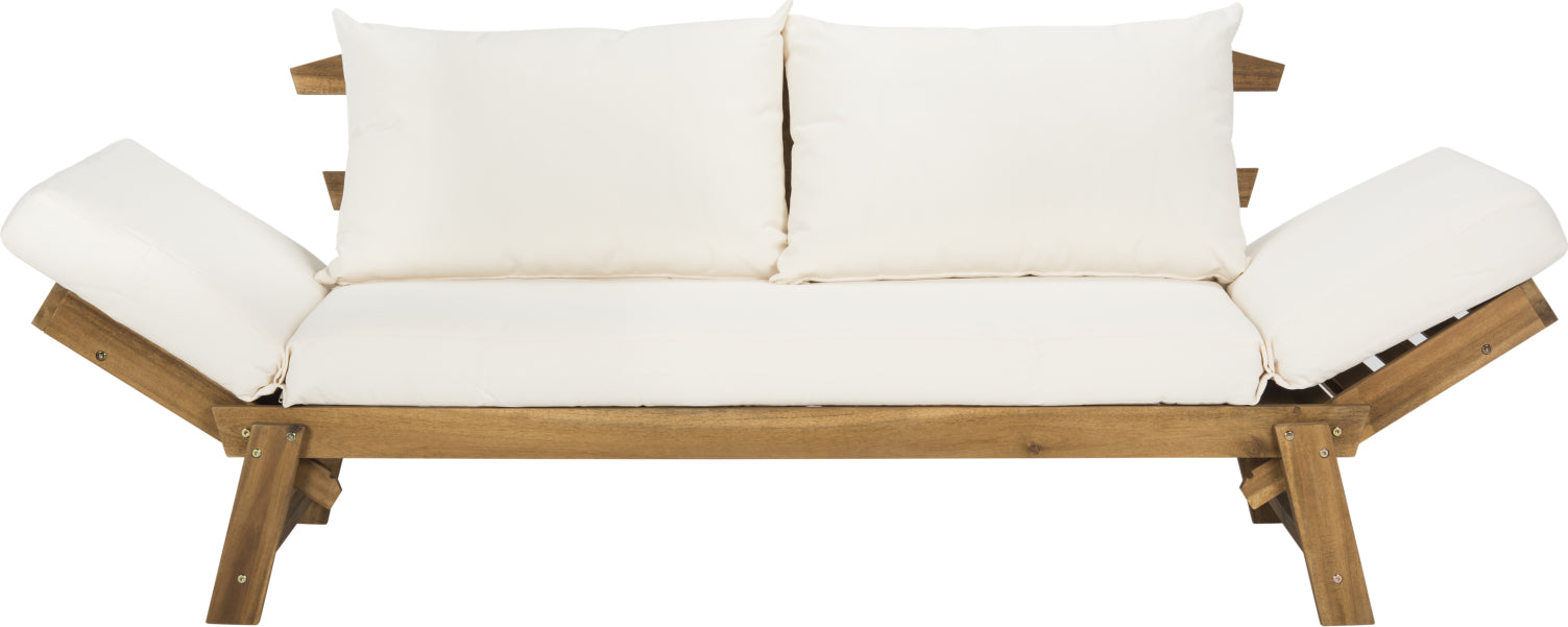 Safavieh Tandra Modern Contemporary Daybed Teak/Beige Furniture main image