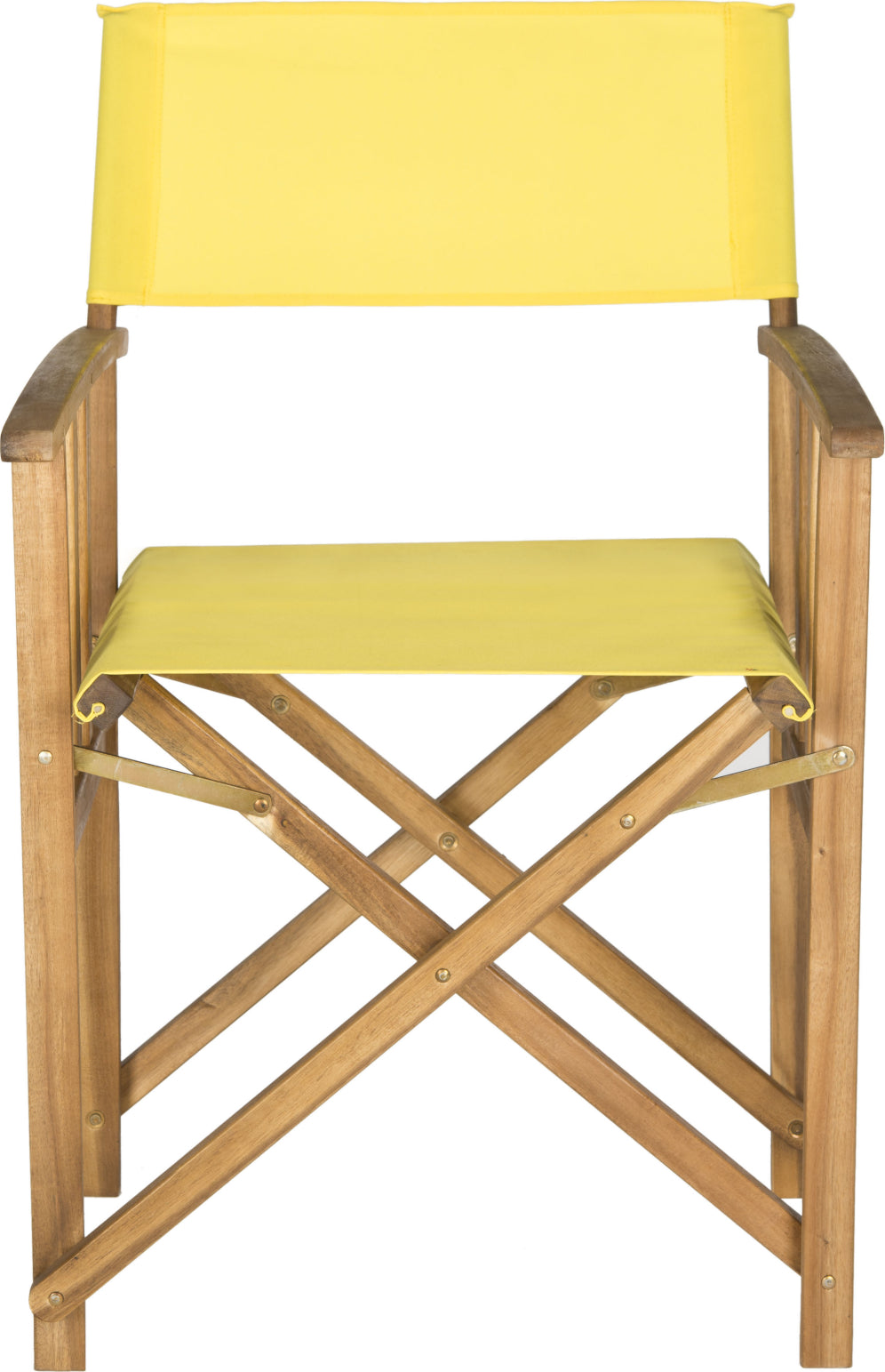 Safavieh Laguna Director Chair Teak/Yellow Furniture main image