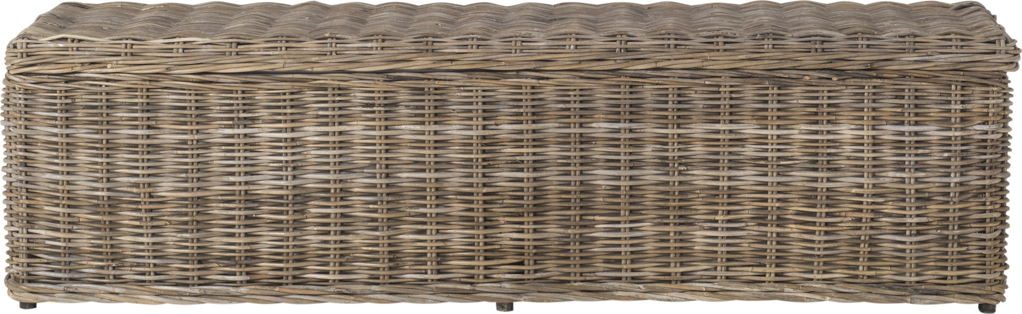 Safavieh Caius Wicker Bench With Storage Natural Furniture main image