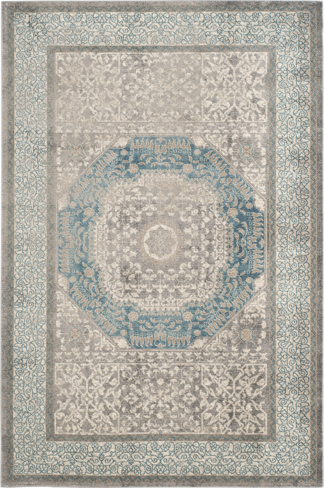 Safavieh Sofia SOF365A Light Grey/Blue Area Rug main image