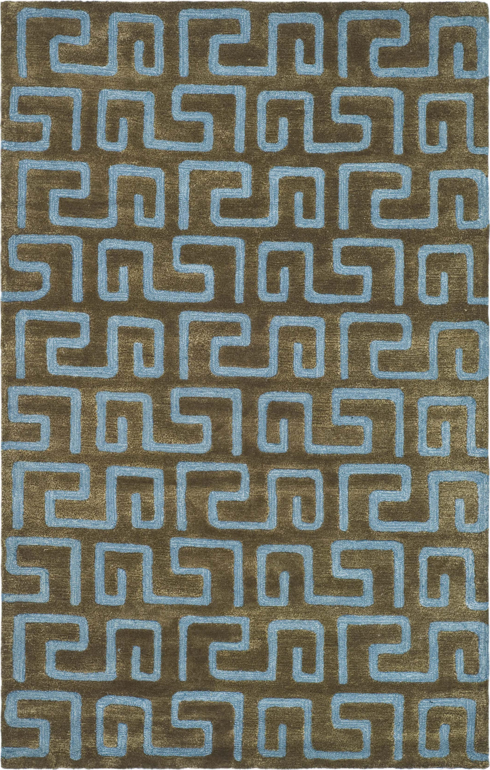 Safavieh Soho Soh416 Brown/Light Blue Area Rug main image