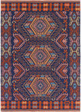 Artistic Weavers Sajal Cleo Poppy Red Navy Blue Denim Peach Coral Area Rug main image
