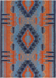 Artistic Weavers Sajal Bear Poppy Red Navy Blue Denim Peach Turquoise Area Rug main image