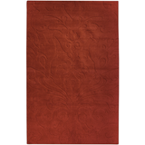 Surya Sculpture SCU-7514 Burgundy Area Rug by Candice Olson main image