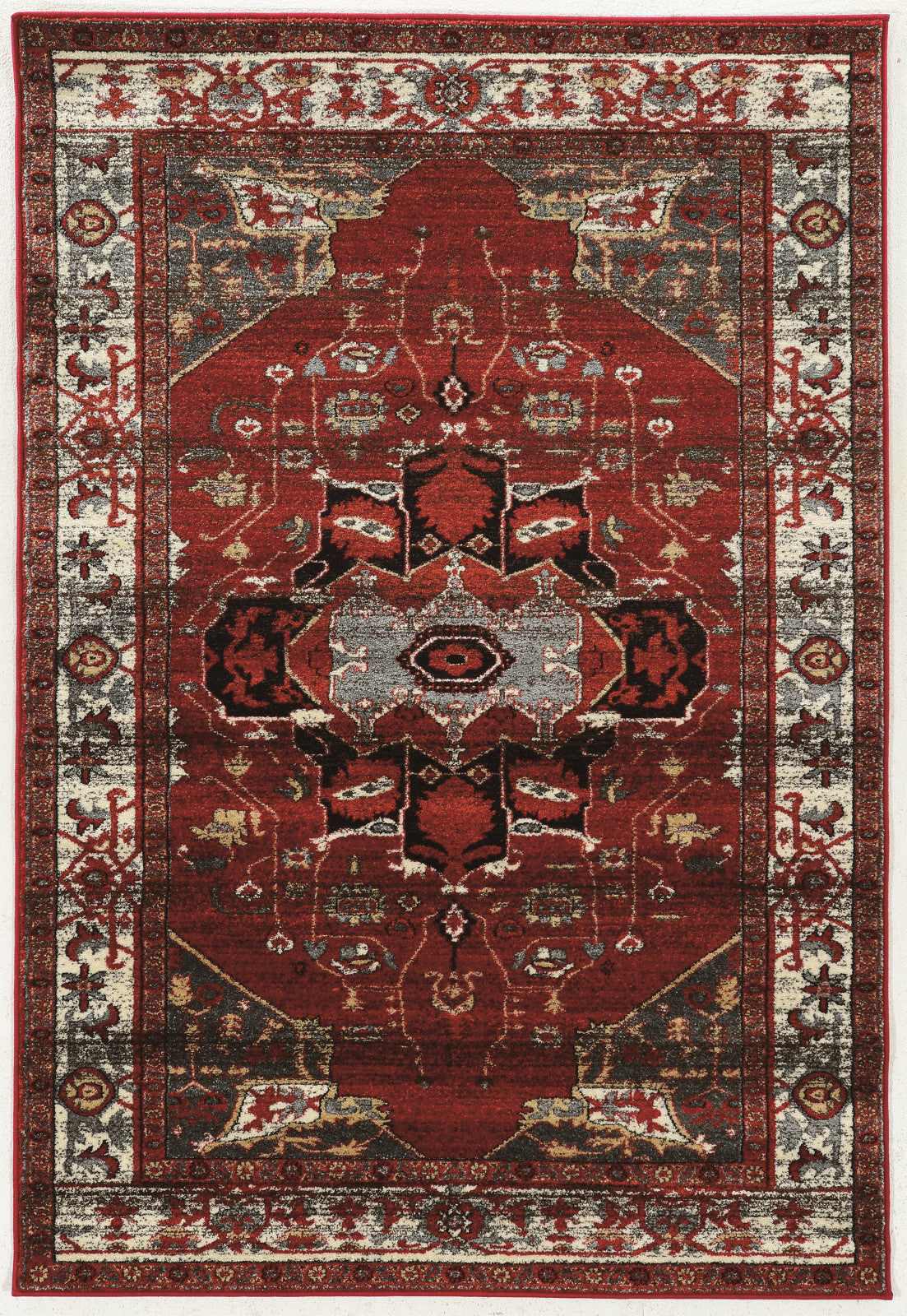 Linon Serape Collection Rugse04 Red Cream Area Rug Incredible Rugs