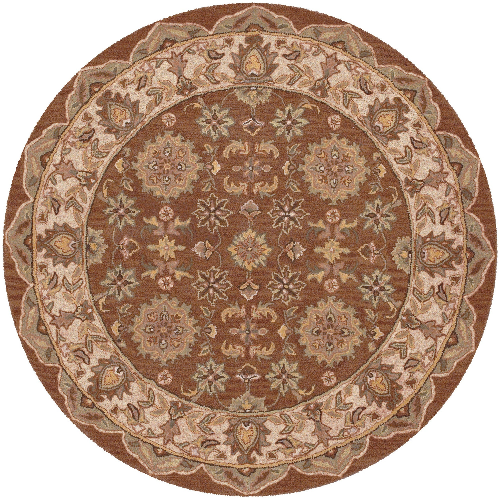 LR Resources Shapes 10563 Coffee/Ivory Area Rug