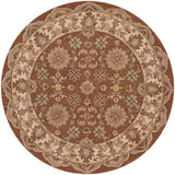 LR Resources Shapes 10563 Coffee/Ivory Hand Woven Area Rug 7'9'' Round