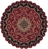 LR Resources Shapes 10572 Red/Black Hand Woven Area Rug 7'9'' Star