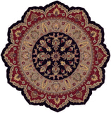 LR Resources Shapes 10573 Black/Red Hand Woven Area Rug 7'9'' Star