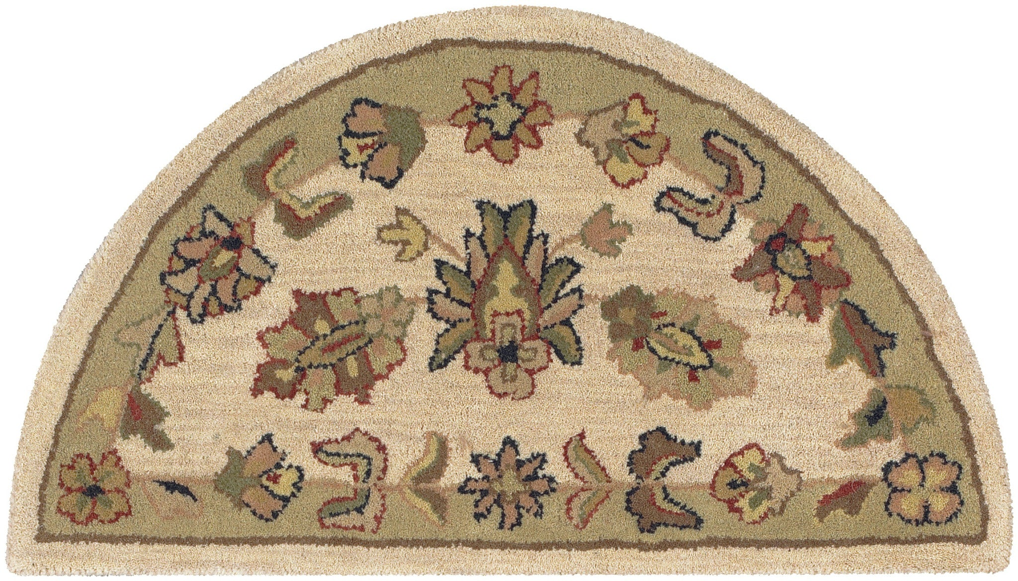 LR Resources Shapes 10579 Ivory/Light Green Area Rug