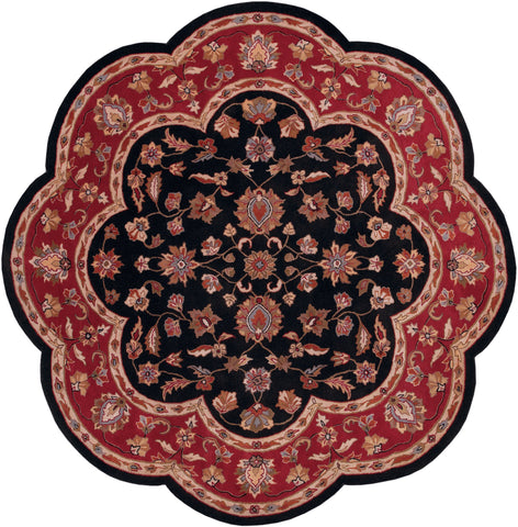 LR Resources Shapes 10752 Black/Red Area Rug