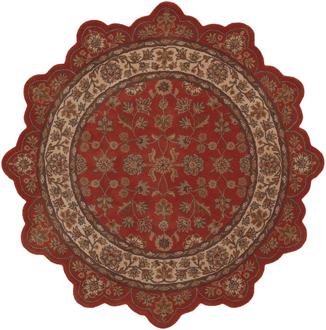 LR Resources Shapes 50001 Brick/Ivory Area Rug