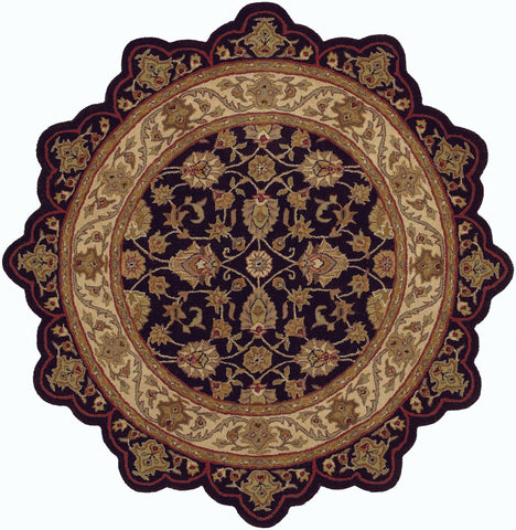 LR Resources Shapes 50003 Black/Ivory Area Rug