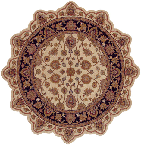 LR Resources Shapes 50004 Ivory/Black Area Rug