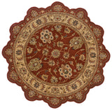 LR Resources Shapes 50921 Rust/Gold Hand Woven Area Rug 5' Star