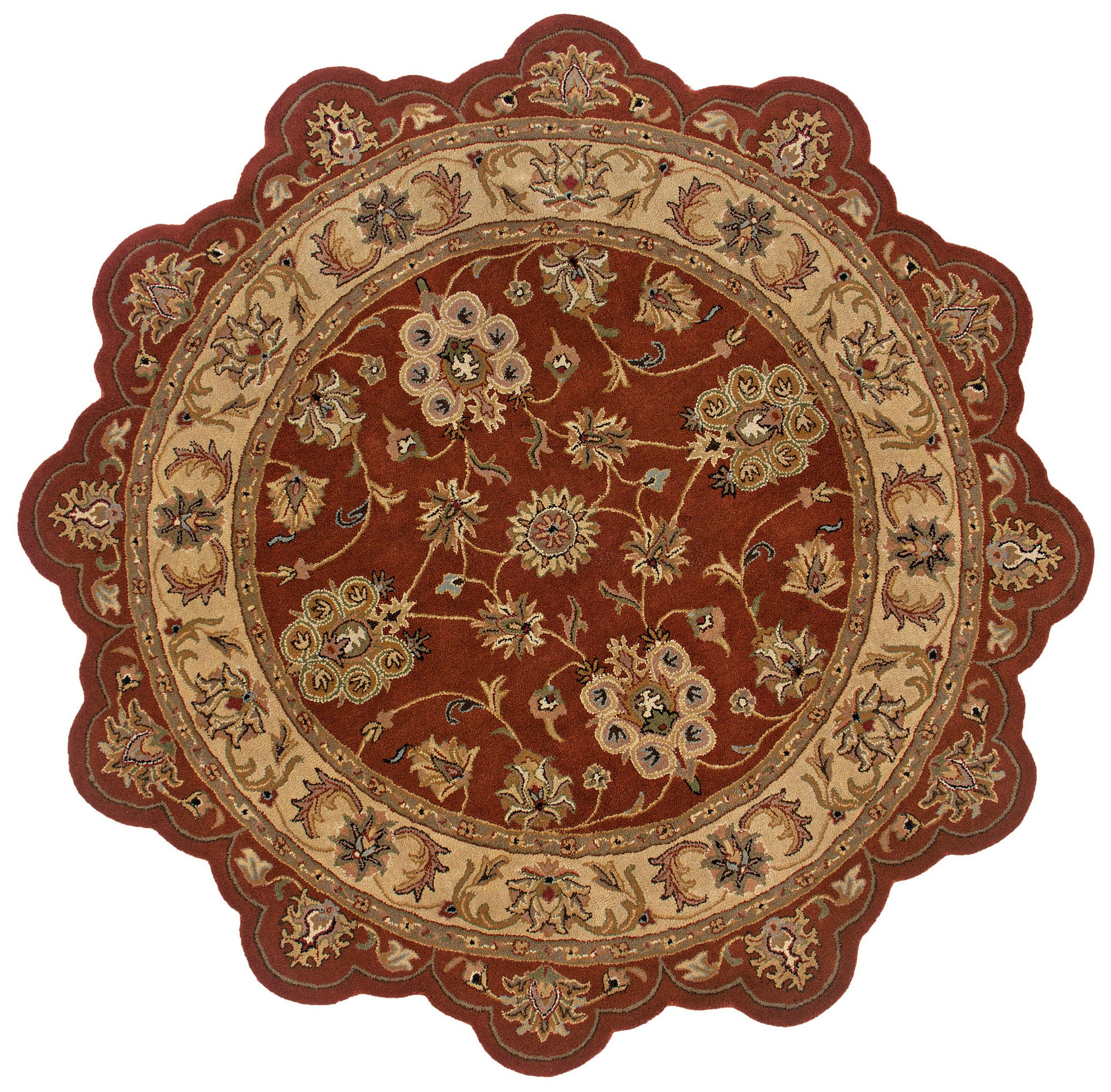 LR Resources Shapes 50921 Rust/Gold Area Rug