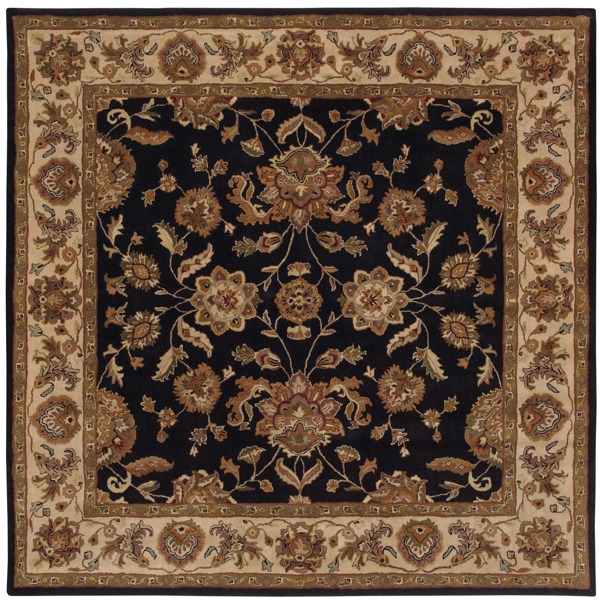 LR Resources Shapes 5R105 Black/Ivory Area Rug