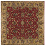 LR Resources Shapes 5R107 Red/Gold Hand Woven Area Rug 9' Square