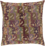 Surya Shoop Follow the Numbers SHP-001 Pillow by Mike Farrell