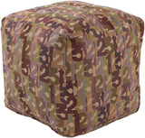 Surya Shoop SHPF-002 Multi-Color Pouf by Mike Farrell
