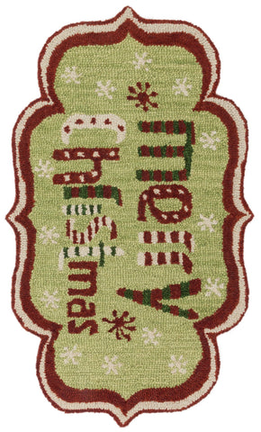 Loloi Skylar HSK19 Green / Red Area Rug main image