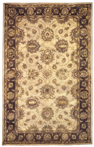 Linon Rosedown RUG-SLSG25 Pale Gold/Chocolate Area Rug main image