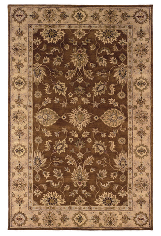 Linon Rosedown RUG-SLSG28 Brown/Gold Area Rug main image