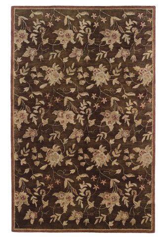 Linon Ashton RUG-SLSG40 Chocolate/Brick Area Rug main image