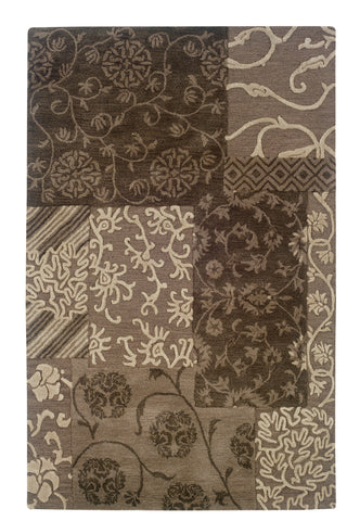 Linon Ashton RUG-SLSG57 Brown/Cream Area Rug main image
