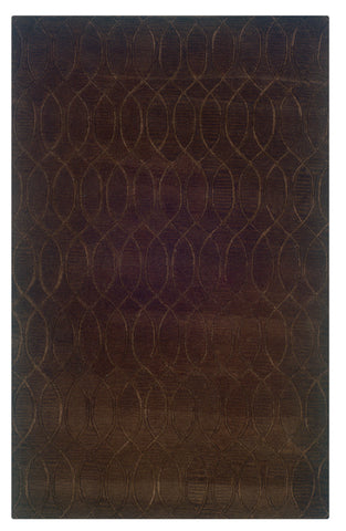 Linon Ashton RUG-SLSG60 Chocolate Area Rug main image