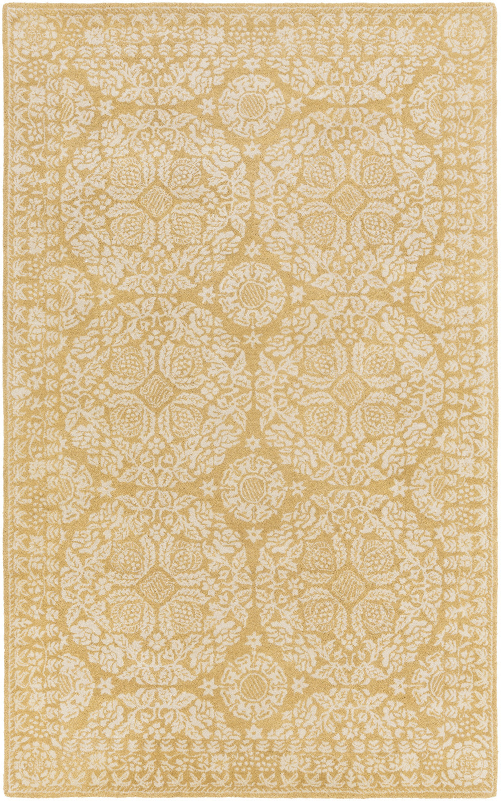 Surya SMI-2150 Yellow Area Rug by Smithsonian